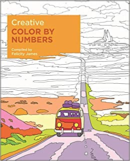 amazon creative color by numbers felicity james 洋書