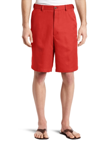 Haggar Men's Cool 18 Gabardine Hidden Expandable Waist Plain Front Short