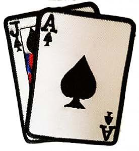 Ace comodín póker de Ace Gamble Biker Patch ''8 x 8 cm'' - Parche Parches Termoadhesivos Parche Bordado Parches Bordados Parches Para La Ropa Parches La Ropa Termoadhesivo Apliques Iron on Patch Iron-On Apliques