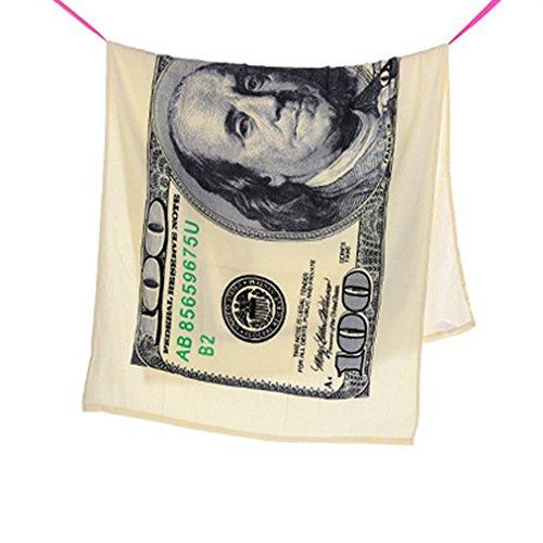 DB.WOR Old 100 Dollar Bill ($100) Print Beach Towel 27.5