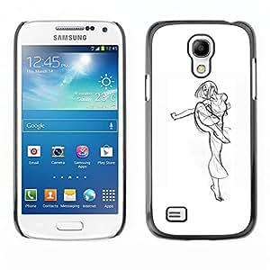 LECELL--Funda protectora / Cubierta / Piel For Samsung Galaxy S4 Mini i9190 MINI VERSION! -- Martial Arts Kung Fu Girl Fighter Drawing Art --