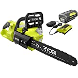 """Ryobi 40V Brushless 14"""" Chainsaw w/Battery and Charger Included"""