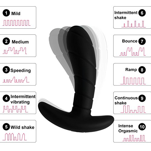 Zemalia Sally Vibrating Silicone Anal Vibrators Adult Sex Toys Vibe for Men or Couples G-Spot Stimulator For Female Masturbation Discreet Package(black)