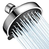 Shower Head High Pressure WarmSpray 4 inch 5 Functions Adjustable Rainfall Shower Head - Rain Showerhead Powerful Flow Spa Shower Sprayer - Best ShowerHeads For the Amazing Massage Shower Relaxation
