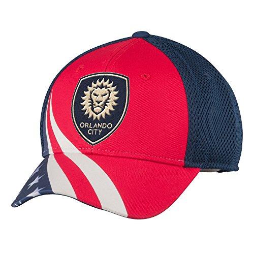 - MLS Orlando City FC Men's Patriotic Mesh-Back Structured Adjustable Cap, One Size, Red/Navy