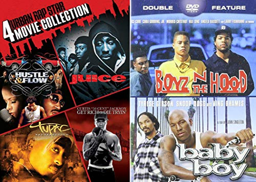 Gangsta Flow of Words and Music 6-Movie Bundle - Boyz N the Hood, Baby Boy, Juice, Hustle & Flow, Tupac: Ressurection and Get Rich or Die Tryin' DVD Collection (Atl Movie Dvd)