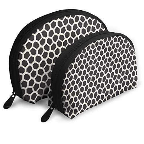Eratdatd Customized Abstract Irregular Line Mosaic Pattern Shell Portable Zipper Bag?2 Bags?, Suitable for Women Cosmetics, Handbags/Handbags, Women -