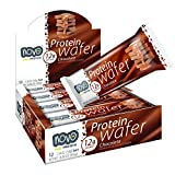 Novo Protein Energy Wafer Bar | 12g of Protein Workout Recovery | 12 Bar Pack (Chocolate)