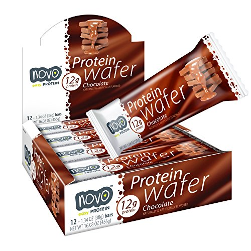 Novo Protein Energy Wafer Bar | 12g of Protein Workout Recovery | 12 Bar Pack ()