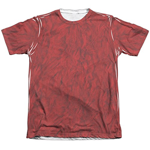 A&E Designs Elmo Costume Sublimation Tee Shirt (Front & Back), Small ()