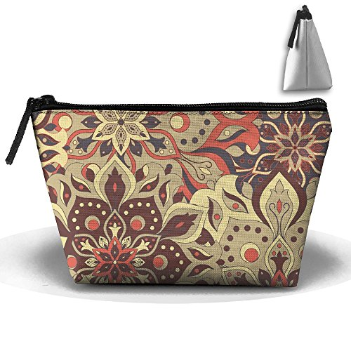European Vintage Flora Portable Zipper Travel Organizer Cool Cosmetic Bags Make Up Bag Toiletry Bag Brush Organizer Coin Purse Pencil Holder For - Sunglasses Qvc