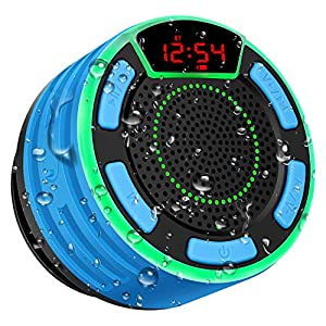 Enceinte Bluetooth, moosen IPX7 étanche Portable sans Fil Haut-Parleur Bluetooth avec FM Radio, LED Display, TWS and…