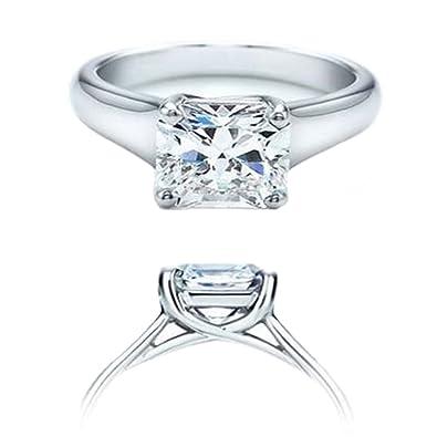 fbeddb43b Dazzlingrock Collection IGI Certified 1.05 Carat (ctw) 14K Real Princess  Diamond Ladies Engagement Solitaire Ring, White Gold   Amazon.com