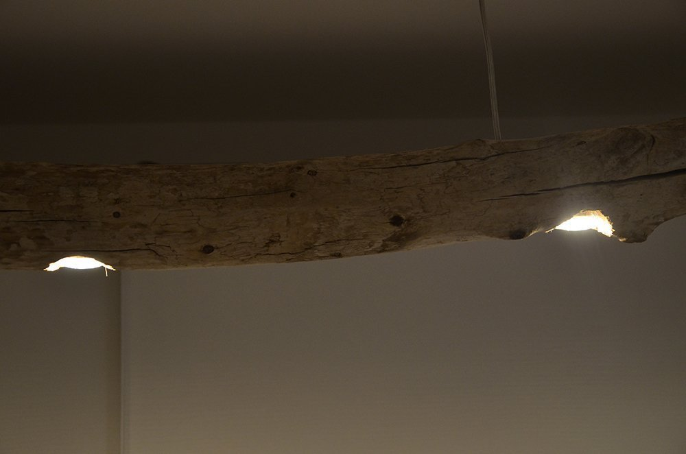 Plafoniere Da Mare : Lampadario da soffitto a sospensione rustico con tronco di albero
