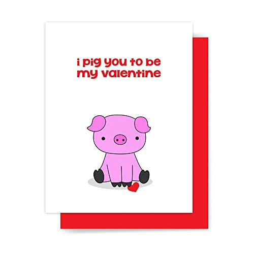 Image of: Bug Image Unavailable Your Biggest Fan Grace Amazoncom Cute Valentine Card Funny Pig Love Pun Handmade Greeting