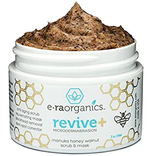 Microdermabrasion Facial Scrub & Face Exfoliator - Natural Exfoliating Face Mask with Manuka Honey & Walnut - Moisturizing Facial Exfoliant for Dull Dry Skin Care, Wrinkles, Acne & More Era-Organics