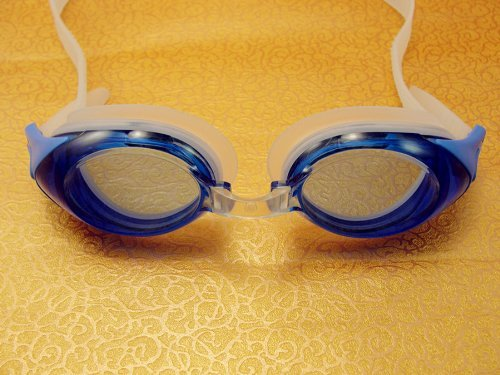 30b9f28824 Amazon.com   Krafty Eye Glasses SavCo Rx Swim Goggles (Prescription Power  -2.5) Blue (for Kids