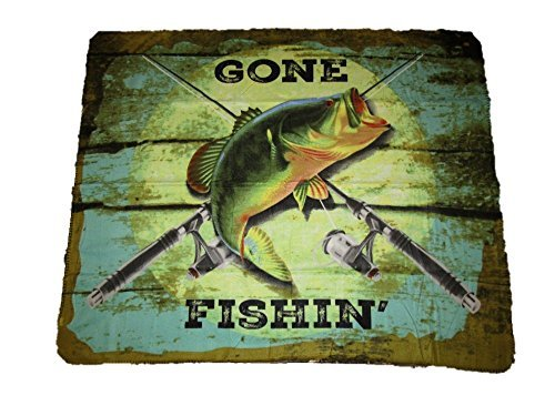 Gone Fishin Fishing Bass Fish 50x60 Polar Fleece Blanket Thr