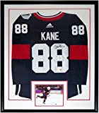 Patrick Kane Signed Adidas Authentic Team USA Jersey - Frameworth Sports COA Authenticated - Professionally Framed & 8x10 Photo 34x42