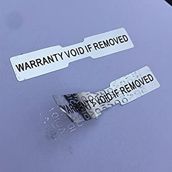 ROSETTE Certificate Hologram Stickers, 35mm x 28mm, AUTHENTIC Labels VOID,  Silver Warranty Labels