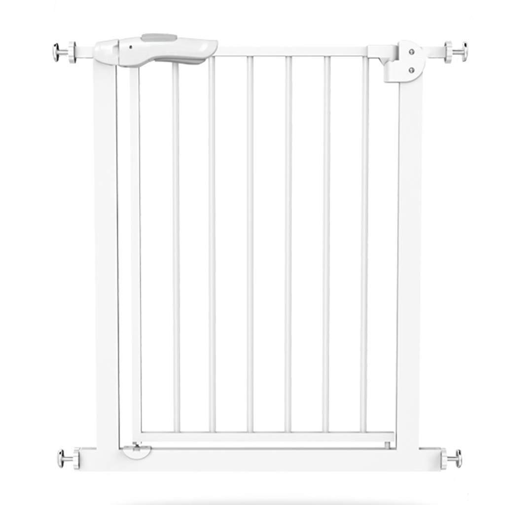 エクストラトール&ワイドベビーゲート - ホワイトメタルベイビーゲート、階段の上、金具付き、幅82-140cm(サイズ:幅102-110cm) Width 102-110cm  B07V867XYL