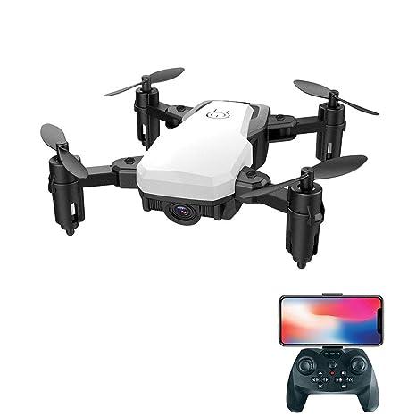 TSWCBYY Mini Avión Plegable De Control Remoto, Dron Aéreo Cámara ...
