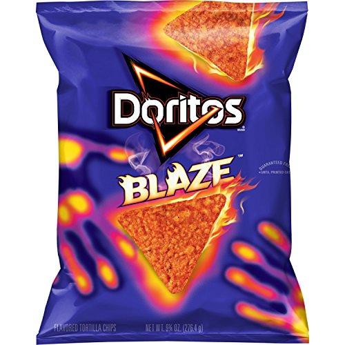 Doritos Blaze Flavored Tortilla Chips, 9.75 oz Bag Works Tortilla Chips