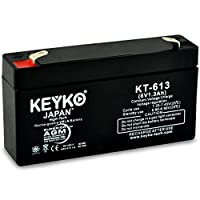 Datex-Ohmeda 3700 Series Printer 6V 1.3Ah SLA Sealed Lead Acid AGM Rechargeable Replacement Battery Genuine KEYKO - F1 Terminal - P from KEYKO MITSUKO-KAI Ltd