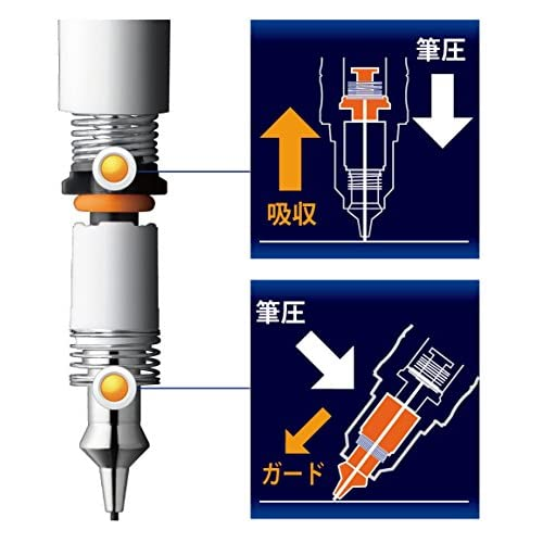 Zebra DelGuard 0.5mm Lead Mechanical Pencil, White Body (P-MA85-W)