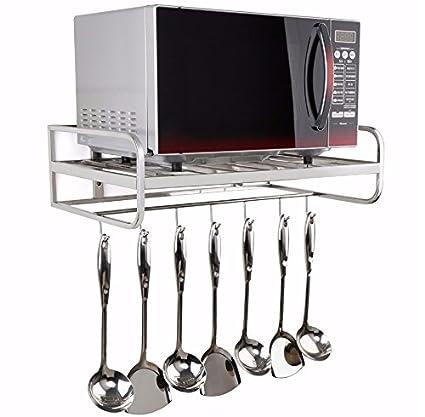 Utensilios de cocina de la tostadora de acero inoxidable horno de microondas rack – Estantería de
