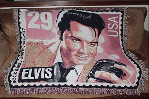 Elvis Stamp Afghan Throw Blanket