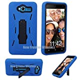 SKY 5.0W Premium Rugged Tough Hybrid Armor Heavy Duty Kickstand Case (HVD Blue)