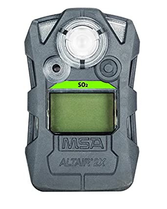 MSA 10154077 ALTAIR 2X Gas Detector, SO2 (Sulfur Dioxide), Gray: Amazon.com: Industrial & Scientific