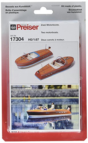 - Preiser 17304 Boats Speed Boat Package(2) HO Scale Vehicles Scenery Set