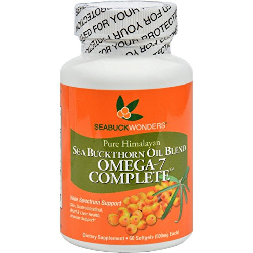 Price comparison product image Seabuck Wonders Sea Buckthorn Omega 7 Complete - 500 mg - 60 Softgels