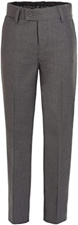RGM Boys Dress Pants Flat-Front Skinny fit Slacks Poly Rayon Giovanni Uomo