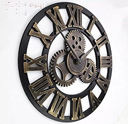 unbrand LARGE 16 INCH VINTAGE WALL CLOCK