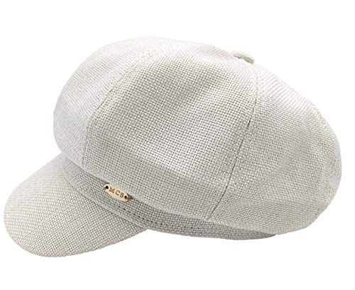 Trendy Women Spring Newsboy Cap Visor Hat Fall Breton Hat Classic Cabbie Beret Caps Cream