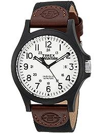 Men's TW4B08200 Expedition Acadia Black/Brown/White Leather/Nylon Strap Watch