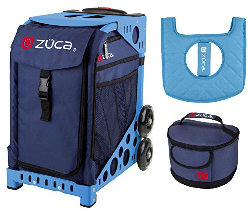 Zuca Sport Bag -Midnight with Gift Lunchbox and Seat Cover (Blue Frame) by ZUCA