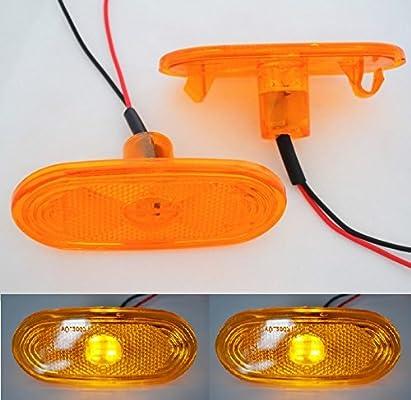 New 4x 12v Led Smd Orange Side Marker Light Lamp For Mercedes Sprinter Truck