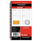 Intuitive two page weekly format delivers planning ease with hourly appointments to keep you organized throughout each workday. Tabs are also included at the start of each month.
