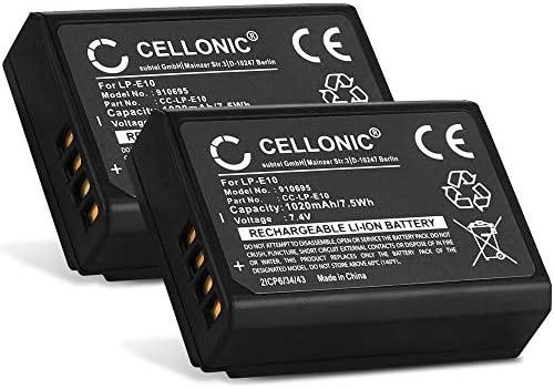CELLONIC 2X Batería Premium Compatible con Canon EOS 1100D 1200D ...