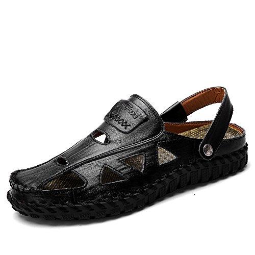 La Sandalias De Respirables De A Dos Hombres LYZGF De Cosidas Black Mano Pozos Moda Moda Zapatillas La Los Casuales De Tvdzxzqgw