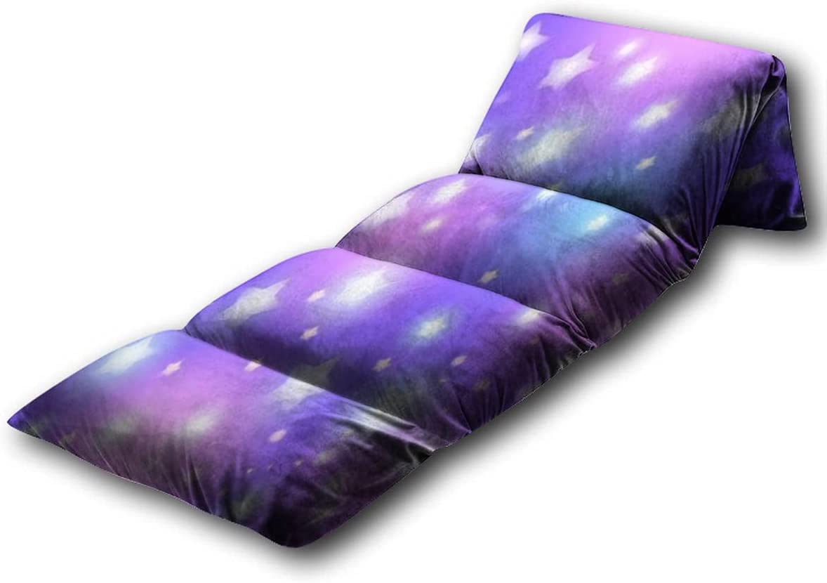 Kids Floor Pillow Abstract Seamless Pattern with Star on Blue Background Pillow Bed, Reading Playing Games Floor Lounger, Soft Mat for Slumber Party, for Kids, Queen Size