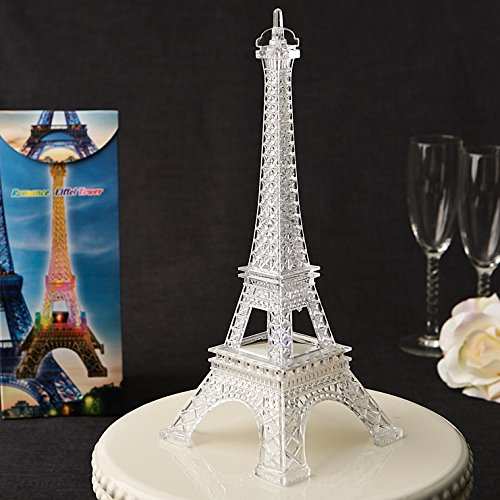 Eiffel Tower - Replica - 10'' high x 4'' square at base - Plastic, lights up, flashes