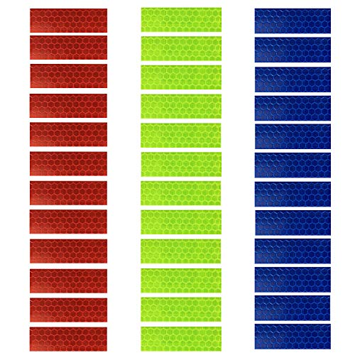 (GOTOONE Reflective Tape Stickers (36 Pack) Diamond Grade Safety Warning Conspicuity Tapes Waterproof 0.63 x 2 Inch Multicolored)
