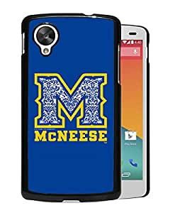 NCAA McNeese State Cowboys 05 Black Google Nexus 5 Protective Phone Cover Case