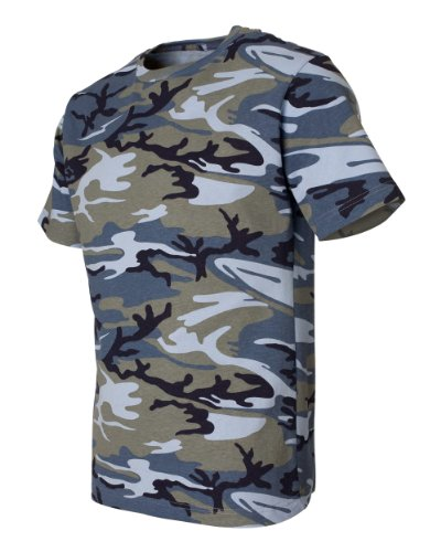 - Code Five 3906 Adult Camo Short Sleeve T-Shirt Army Woodland Digital Urban Camouflage Tee (X-Large, Blue Woodland)