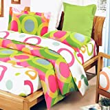 Blancho Bedding - [Rhythm of Colors] 100% Cotton 5PC MEGA Comforter Cover/Duvet Cover Combo (Twin Size)